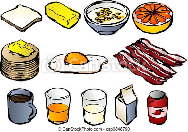Stock Illustration - Breakfast clipart - stock illustration, royalty ...