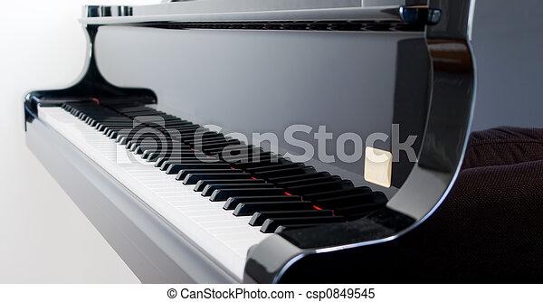 鋼琴, 盛大 - csp0849545