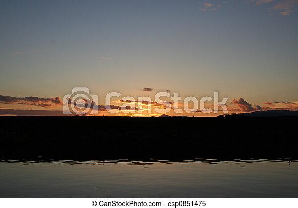 Breakwater Sunset - csp0851475