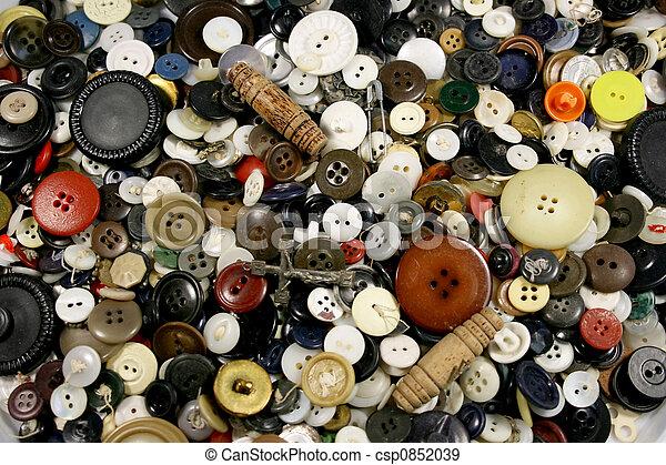 anticaglia, bottoni, fondo - csp0852039