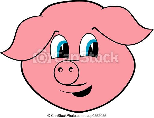 Cheerful pig - csp0852085