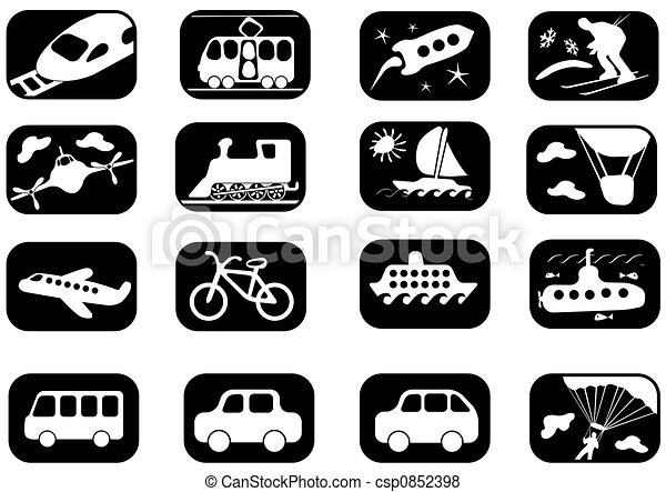 Transportation icon set - csp0852398