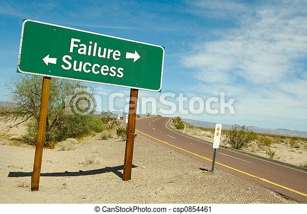 Failure or Success Sign - csp0854461