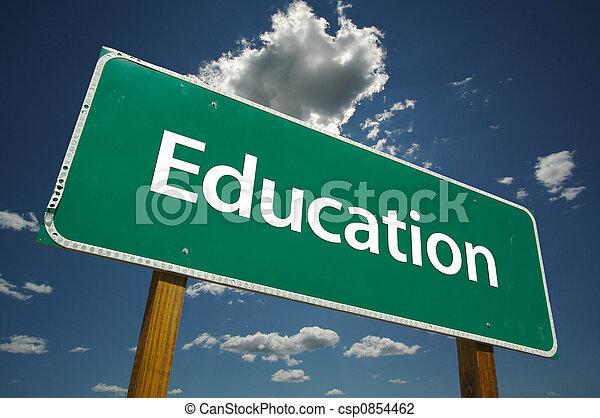 Educação, estrada, sinal - csp0854462