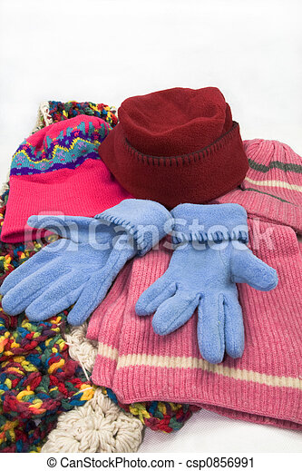 hat, scarf and gloves - csp0856991