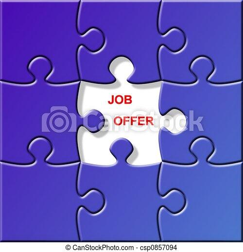 puzzle - job offer - csp0857094