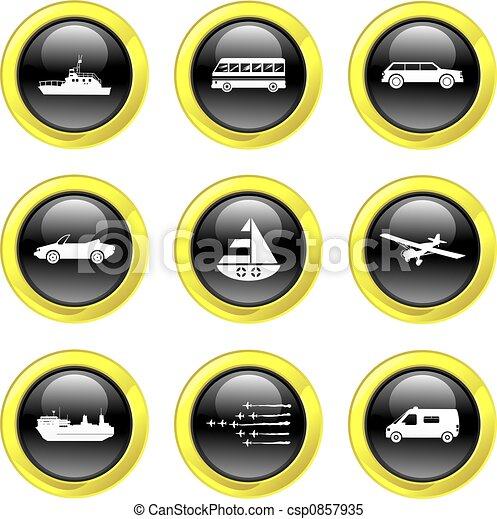 transport icons - csp0857935