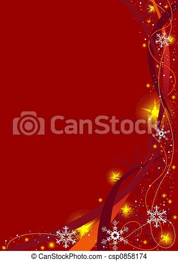 Red Christmas Background - csp0858174