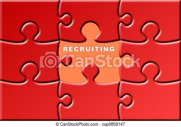 puzzle with a missing piece - recruiting - csp0859147