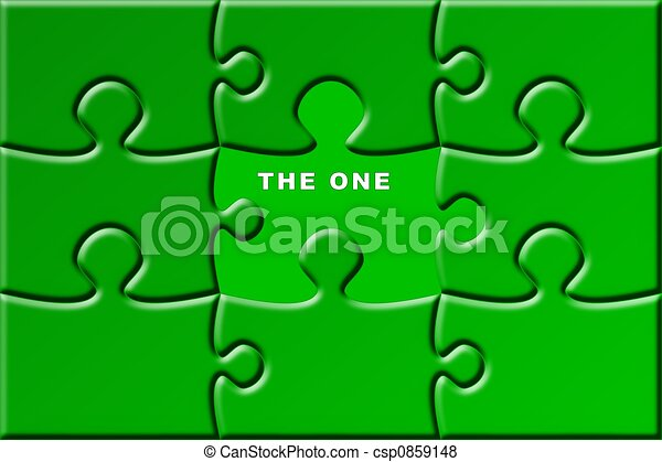 puzzle with missing piece - the one - csp0859148