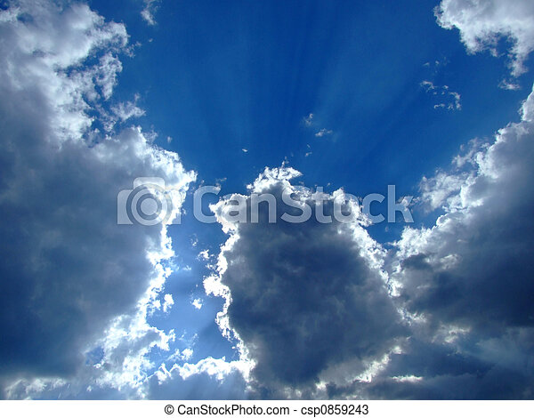sky background. sky, sun and clouds background. - csp0859243