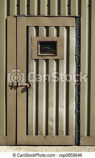 old wartime door - csp0859546