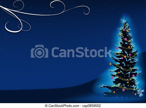 Blue Christmas Tree - csp0859552