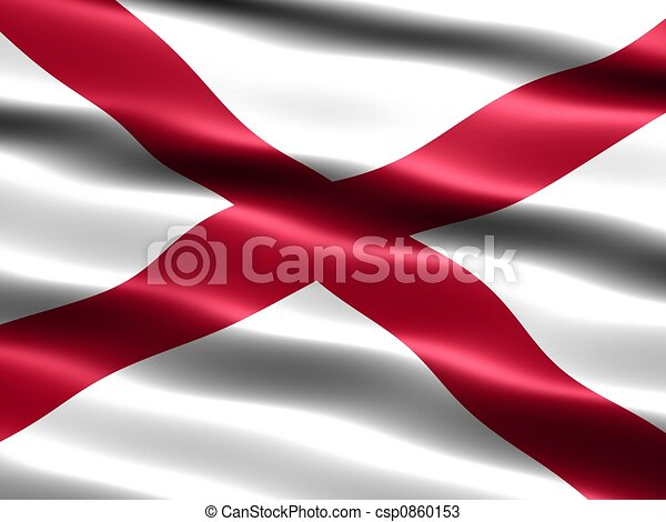 State flag of Alabama - csp0860153