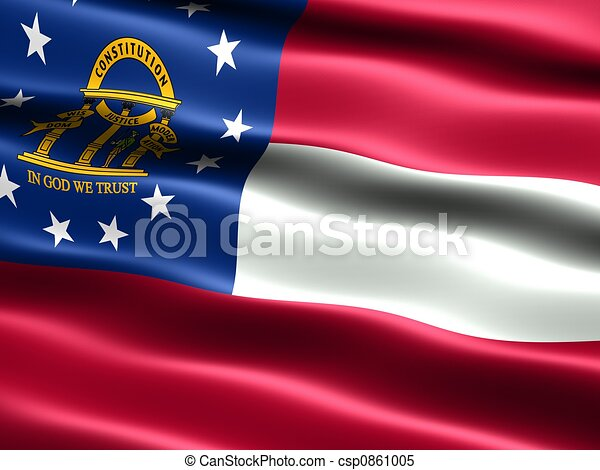 State flag: Georgia - csp0861005