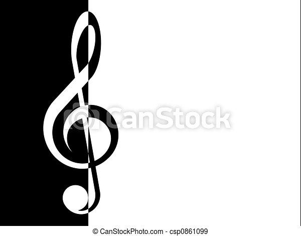 treble clef - csp0861099