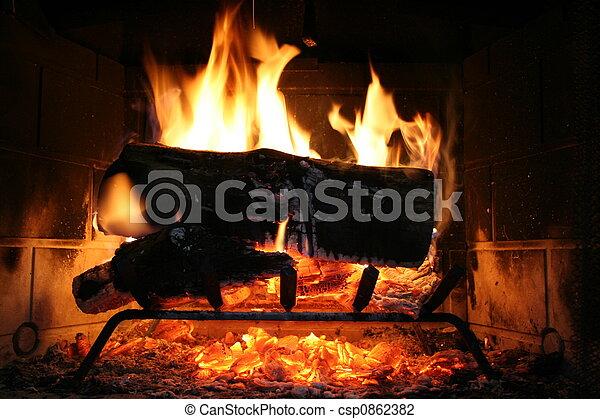 Fireplace - csp0862382