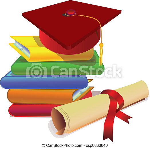 stock illustration of graduation with study books and clip art owls poster boards clip art owls for teachers