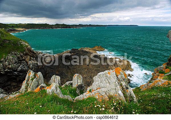 Brittany coast - csp0864612