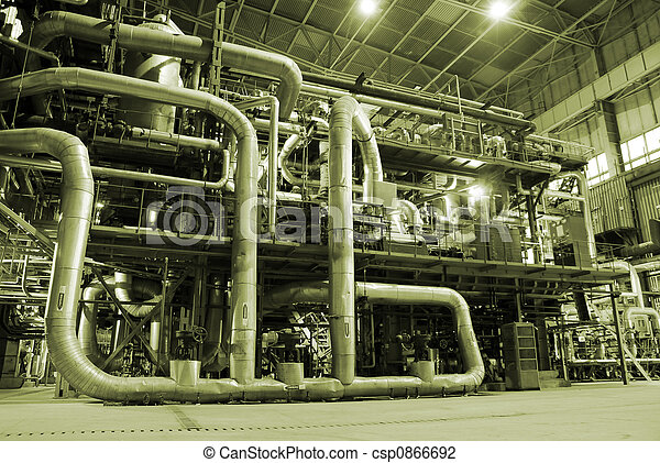 Pipes inside energy plant - csp0866692