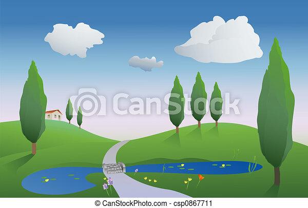 spring countryside - csp0867711