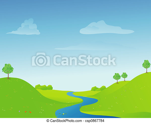 river in springtime - csp0867784
