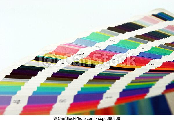 顏色, 圖表, 藝術 - csp0868388