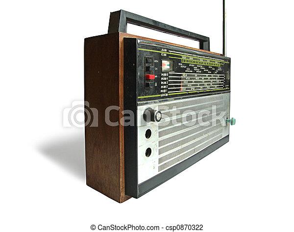 Old soviet radio receiver - csp0870322