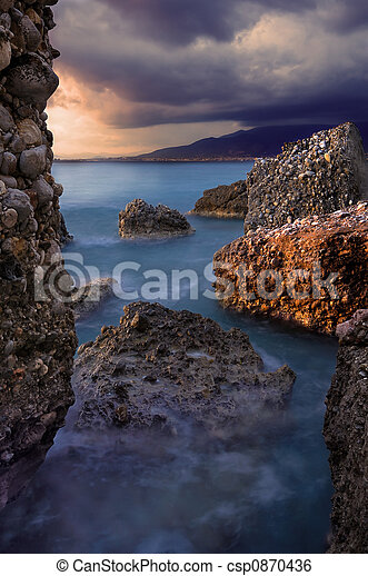 Rocky seascape - csp0870436