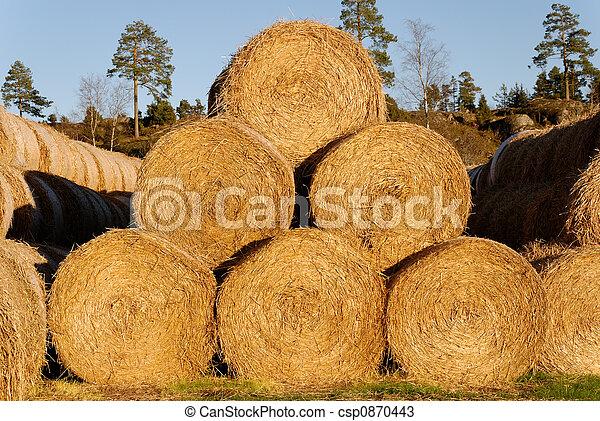 Golden Hay Pyramid - csp0870443