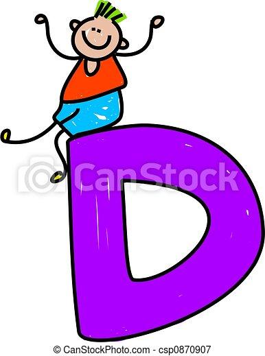letter D boy - csp0870907