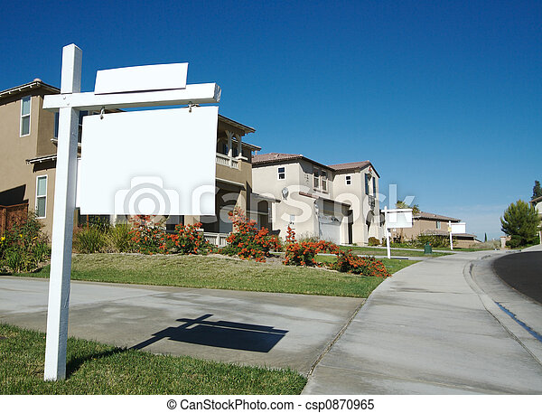 Blank Real Estate Signs - csp0870965