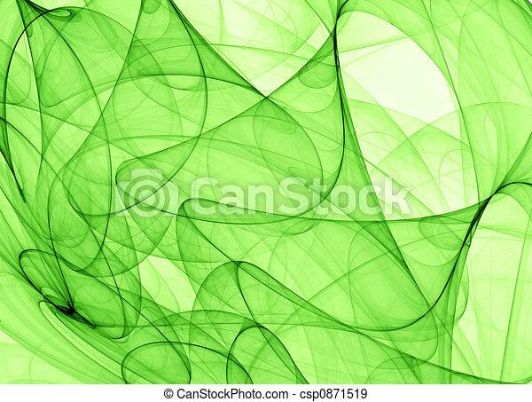 抽象的, 緑の背景 - csp0871519