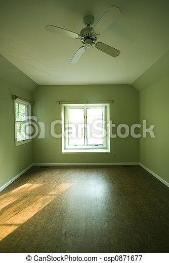 empty room condominium condo apartment green walls - csp0871677