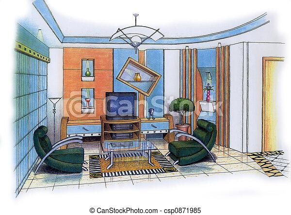 Living Room - csp0871985