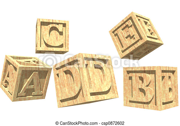 alphabet block toy - csp0872602