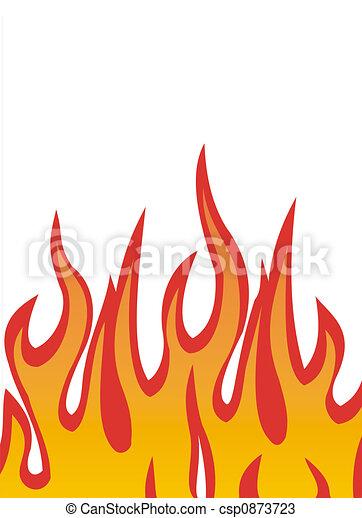 fuoco, fiamme, vettore - csp0873723