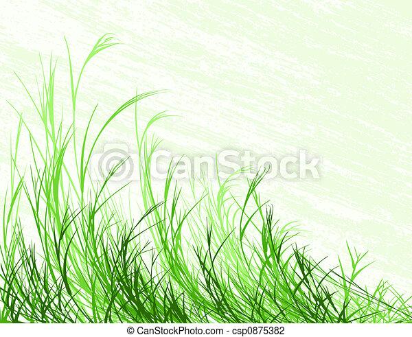 Blowing grass - csp0875382