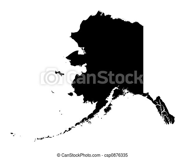 Stock Illustrations Of Map Of Alaska  Detailed Isolated B
