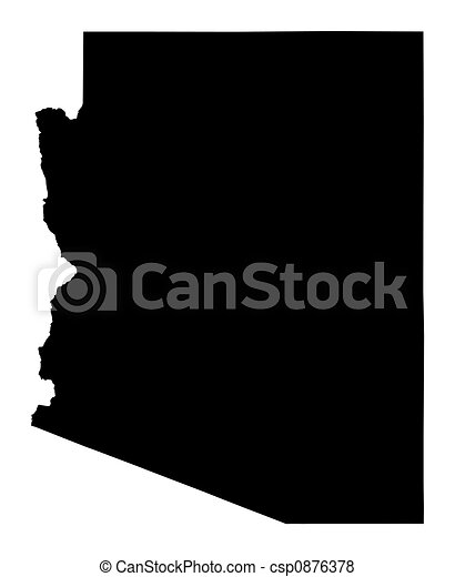 map of Arizona - csp0876378