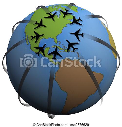 Airline Travel Destination: Eastern US - csp0876629
