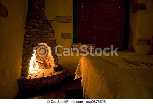 Rustic Fireside - csp0878626