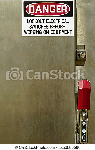 DANGER - Lockout Electrical Switches - csp0880580