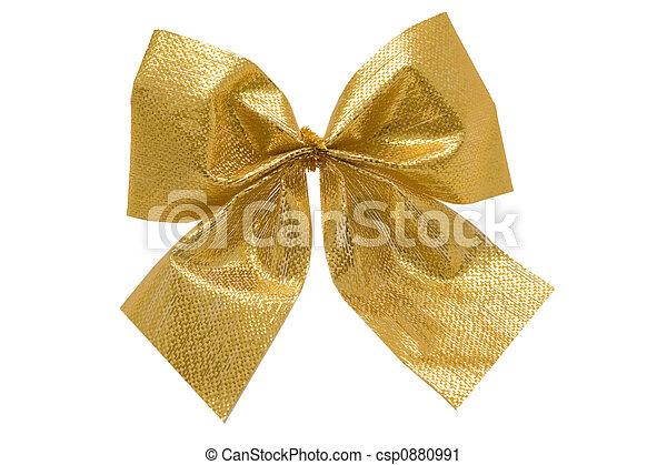 christmas golden bow