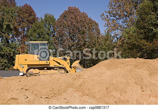Bulldozer on Dirt - csp0881317