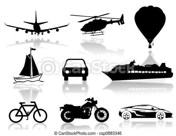 Transport silhouette - csp0883346