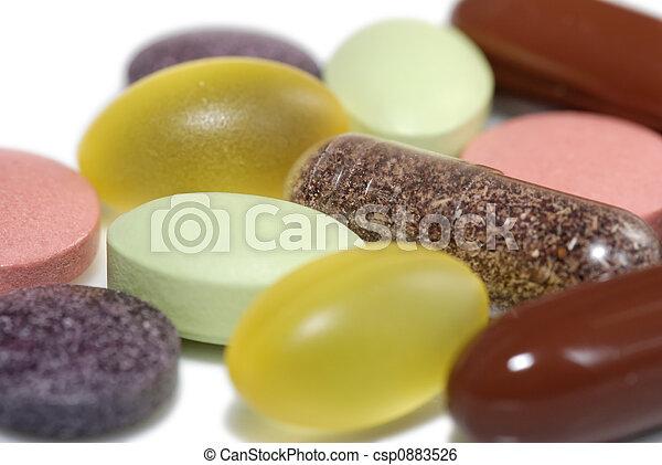 Vitamins and Minerals - csp0883526