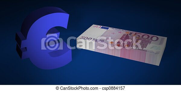 Five hundred EURO stack - csp0884157