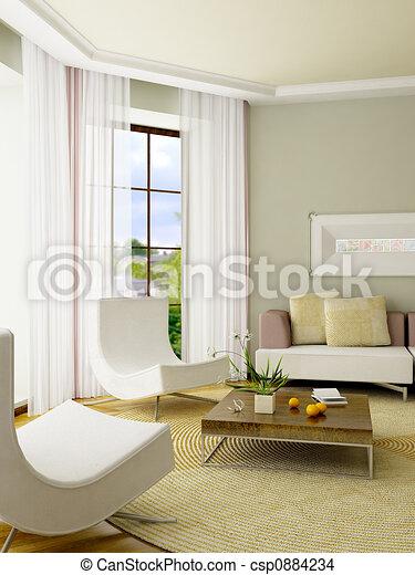 3D render interior - csp0884234