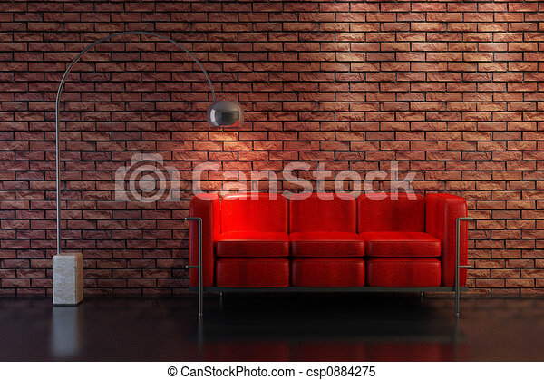 sofa 3D rendering - csp0884275